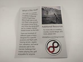 Disc Golf Brochure