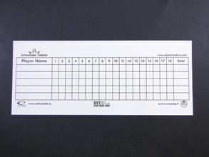 Dynamic Discs Scorecard